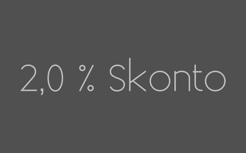 Ab jetzt 2 % SKonto auf Banküberweisung
